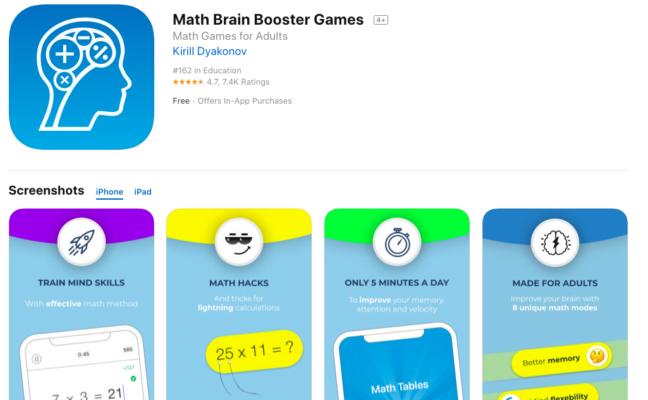 phần mềm luyện thi sat Math Brain Booster