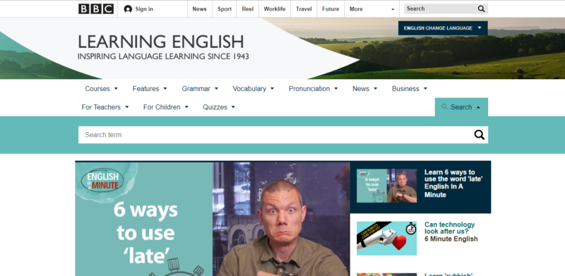 BBC-Learning-English-kenh-luyen-tieng-anh-online